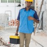 Постер, плакат: Indian male contractor