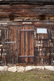 Vintage wooden barn door