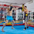 Постер, плакат: Fighters in sparring match