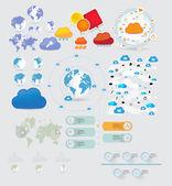 Časová osa prvky ilustrace