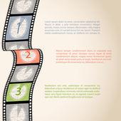 Film strip visszaszámlálás infographic