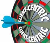 ügyfél-centrikus szavak dart tábla célzás ügyfélszolgálat