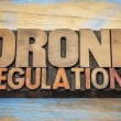 Постер, плакат: Drone regulations word abstract