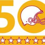 Постер, плакат: 50 Pro Football Championship Sunday Helmet