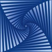 Tileable art quadrangle salient shape optical illusion op volumetric trickery form tracery template Blue and cobalt tile creative recurring concave zig zag whirlpool torsion fan blades grid backdrop