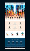 Modern Colorful Abstract Web Site Creative Design UI Element Template Layout with Urban Theme - Illustration for Your Business or Blog - Freely Scalable and Editable Vector Format Included