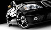 černé auto, samostatný