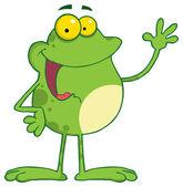 Cute green Frog Cartoon Character