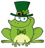 Happy Leprechaun green Frog