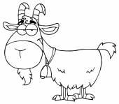 Goat animal Cartoon Character