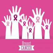 Breast cancer graphic design  vector illustration
