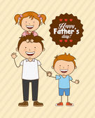 Fathers day design vector illustration eps10 graphic