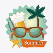 Summer digital design vector illustration eps 10