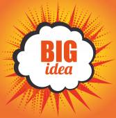 Big idea creative and intelligence theme design vector illustration