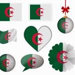 Постер, плакат: Algeria flag set of 8 items vector