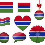 Постер, плакат: Gambia flag set of 8 items vector