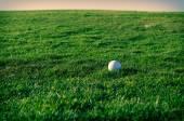 Golfové hřiště při západu slunce