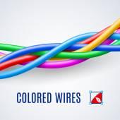 Fili di plastica intrecciati o cavi in diversi colori