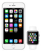 Iphone 6 and Apple watch vector illustration eps10