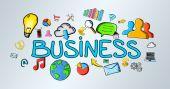 Abbildung handgezeichnete business