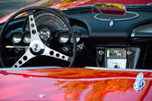 Kansas City, Missouri, USA.  Aug 16th, 2015.  Dashboard view of a 1959 Corvette.  Only 9,670 Corvettes were in Production that year.