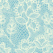 Blue seamless floral lace pattern vector illustration