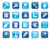 Gebäudeautomation und home Renovierung-Symbole