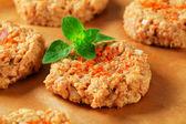 Raw vegetable patties