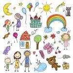Постер, плакат: Collection of Children Drawings