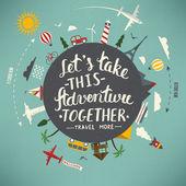 Po celém světě cestovat ilustrace