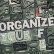 Постер, плакат: Organize your life met