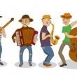 Постер, плакат: Cartoon street musicians