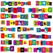 Постер, плакат: Music genres made of colorful letters