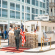 Постер, плакат: BERLIN GERMANY May 18: Checkpoint Charlie Former bordercross
