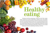 Zdravé stravování pozadí