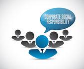 Společenská odpovědnost firem znamení ilustrace