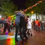 Постер, плакат: People dancing Tango in Buenos Aires Argentina