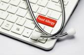 Billentyűzet, a szöveg az élelmiszer-allergia és a sztetoszkóp