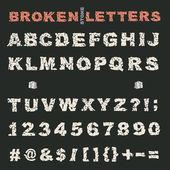 Rozbité kameny abeceda
