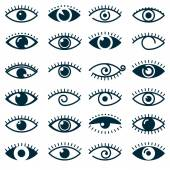 Collection of eyes icons and symbols - logo design Vector illustration
