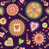 Colorful Seamless Romantic Background Valentine's Day Abstract Pattern