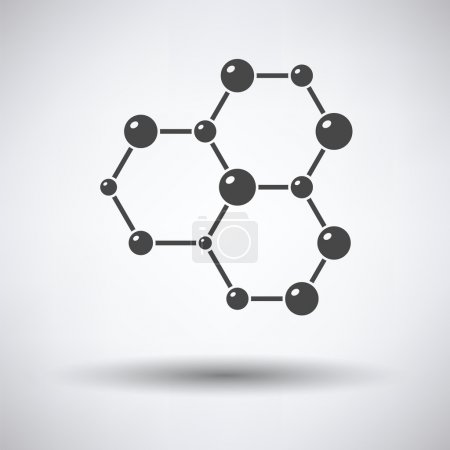 Icon of chemistry hexa connection of atoms