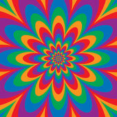 Floral optical illusion design in primary and secondary colors Vector: Colors are grouped for easy editing