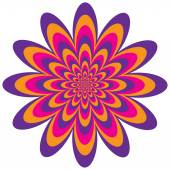 Infinite flower optical illusion design in magenta purple and orange Vector: Colors are grouped for easy editing