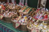 Perníková srdce zlé koše v Budapešti vánoční trh