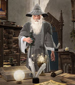 Magician with an elixir in hand