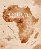 Landkarte Afrika retro