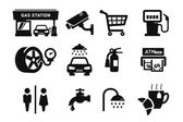 Gas station and Fuel pump icons set 04