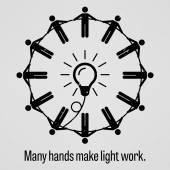 Sok kéz, hogy könnyű munka