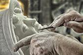 Alabaster sculpture Volterra village (Italy)